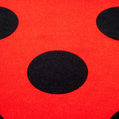 Fabric red polka dots. tissue, textile, cloth, fabric, material,