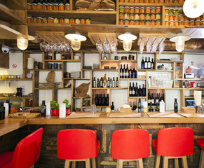 Wine bar with counter and stools in Split