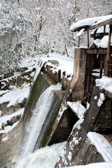 Water being released from an abandoned dam