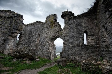 Ruins of an ancient church of Bzyb in the Republic of Abkhazia. Tenth century A.D.