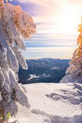 Mountain ski resort, Romania,Transylvania, Brasov, Poiana Brasov