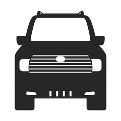 truck car frontview icon image two tone vector illustration design