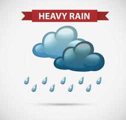 Weather icon for heavy rain