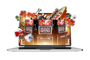 Online Gambling on Laptop