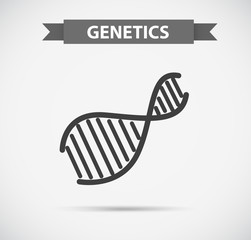 Icon design with genetics symbol