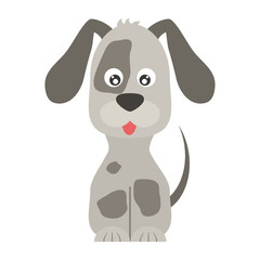 cartoon cute dog icon over white background. coloful design. vector illustration