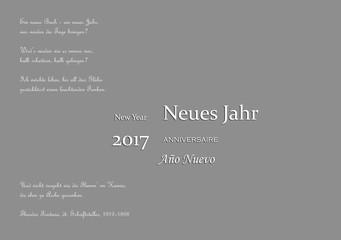 Eine hoffnungsvolle Karte zum Jahr 2017