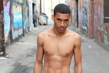 Shirtless man with a perfect body