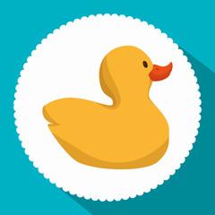 cute ducks toy icon vector illustration design