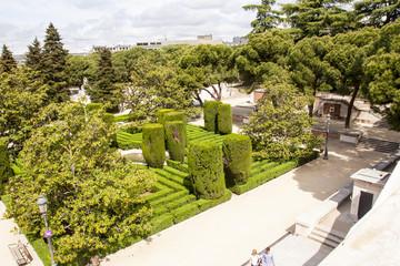 Il giardino del palazzo reale di Madrid