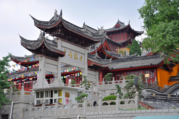 Main Entrance of Jiming Temple, Nanjing, Jiangsu Province, China. Jiming Temple was first built in 557, and is one of the most antique temples in Nanjing.
