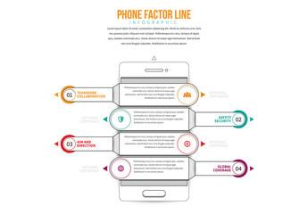 Line Art Smartphone Infographic 2