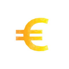 Polygonal euro sign.