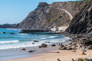 Portugal - Beach, vliff and road