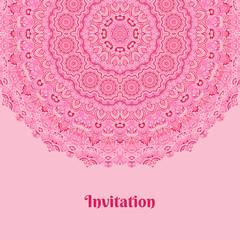 wedding invitaion card with lace ornament