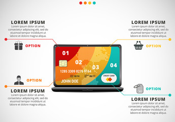 Shopping Infographic with Credit Card Illustration 2
