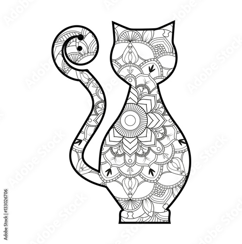 mandala coloring pages sitting cat mandala best free coloring pages. Black Bedroom Furniture Sets. Home Design Ideas