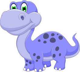 cute dinosaur cartoon smiling