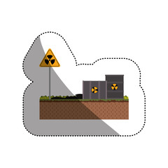 Barrel and biohazard icon. Pollution environment and ecology  theme. Isolated design. Vector illustration