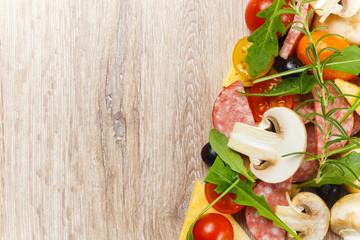 Ingredients for italian food.