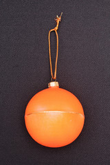 The symbol of Christmas and the new year, Orange Christmas ball.