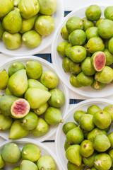 Fresh yellow green figs