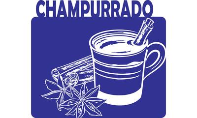Champurrado - traditional mexican chocolate drink - vector