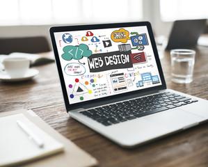 Web Design Blogging Layout Database Information Concept