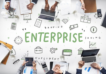 Enterprise Company Business Corporation Organization Concept