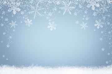 Winter Hintergrund Schneeflocken