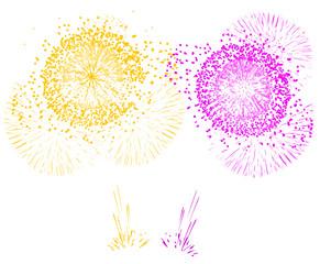 feu d'artifice or violet