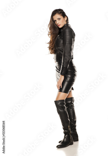 Dress Boots Leather Jacket