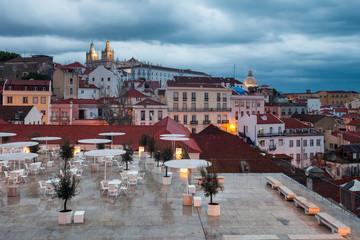 Blue dusk in Lisbon