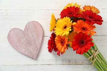Blumenstrauss mit Herz