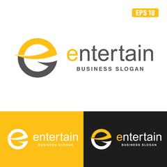 Entertain Letter E Logo / Icon Vector Design (Business Logo Idea)