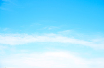 light blue sky and white cloud
