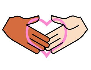 握手とハート2