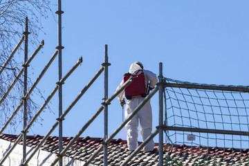 Asbestos removal of a residential building