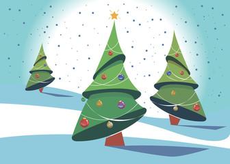 christmas illustration tree vector holiday celebration december