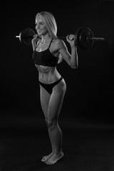 Girl with a barbell