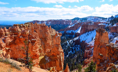 Bryce Canyon Utah covered in snow