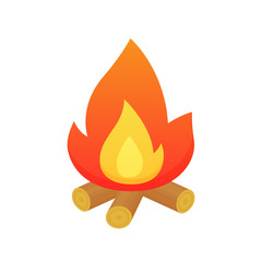 Campfire vector isolated