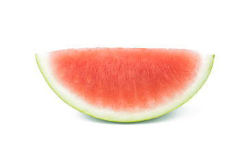 Slice of watermelon no seed on white background