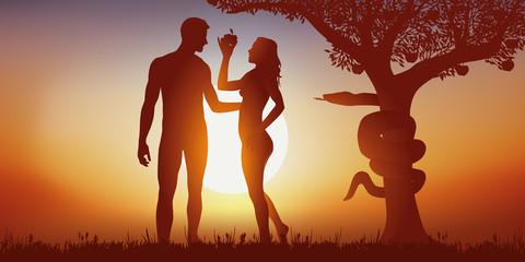 adam et éve - création - tentation - bible - pomme