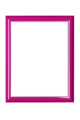 pink photo frame isolated on white background