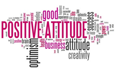 Positive attitude - word cloud
