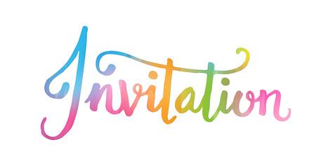 INVITATION Watercolour Card
