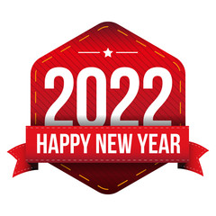 Happy New Year 2022 vector