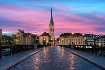Zurich. Image of Zurich, capital of Switzerland, during dramatic