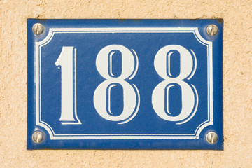House Number One Hundred Eighty Eight - 188